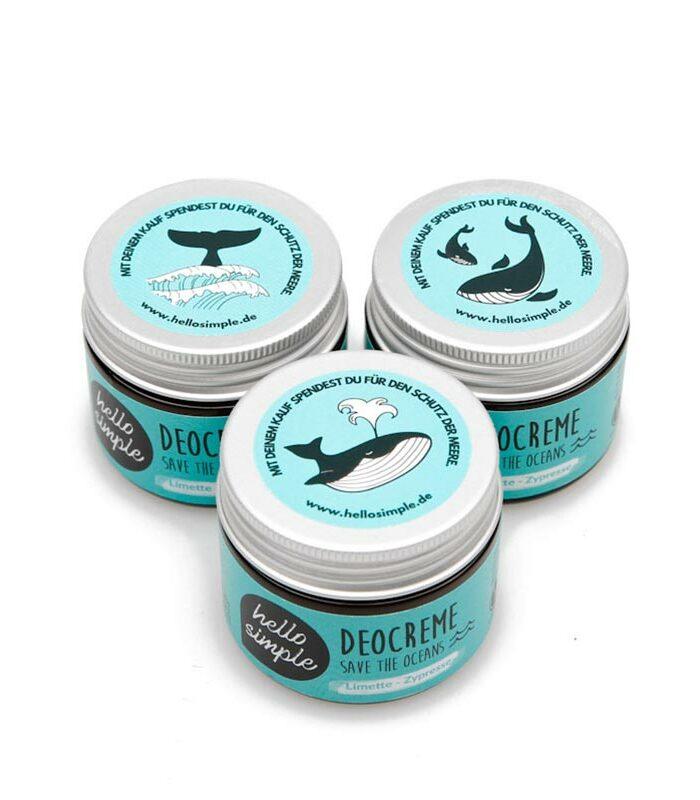 Deocreme Save the Oceans mit Limette Zypresse zum Meereschutz und das vegan und ohne Plastik