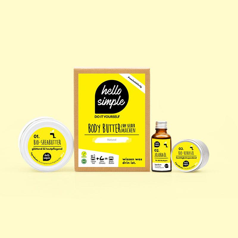 Natürliche Body Butter selber machen mit Geschenkebox