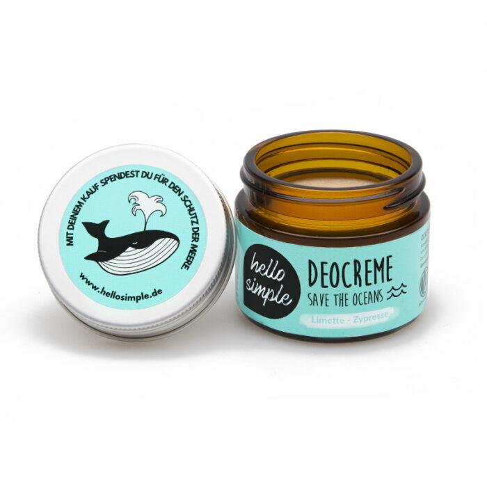 Deocreme Save the Oceans Limette Zypresse Meereschutz keinplastik
