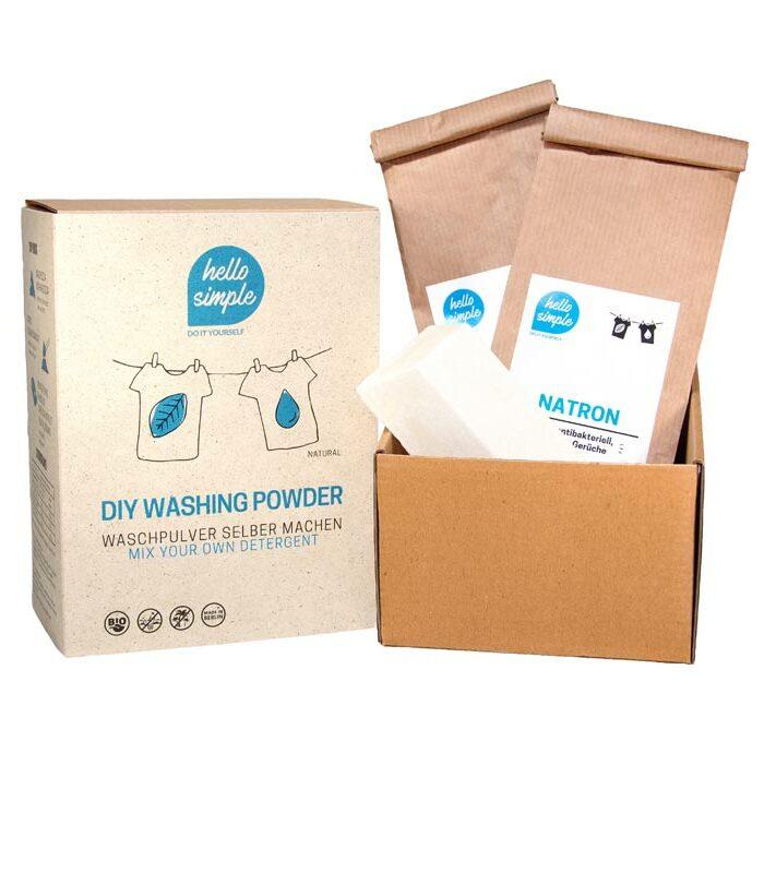 Bio-Waschmittel zum Selbermachen. Zutaten Kernseife, Waschsoda und Natron