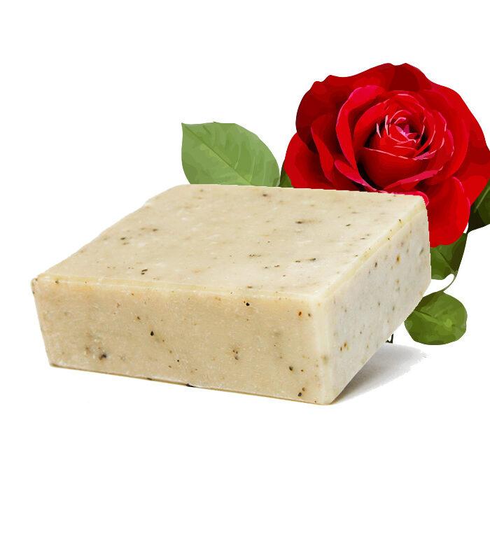 Rosenseife zum Duschen; Baden und als Gesichtsseife
