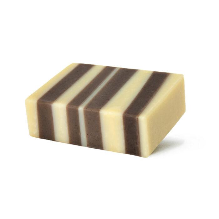Handgemachte Terrazzo-Seife mit natürlichen Inhaltsstoffen, bio und angesagter Terrazzo-Look