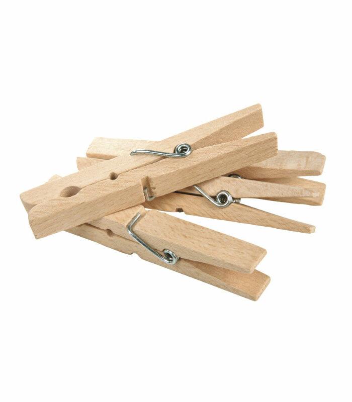 Holz-Wäscheklammern, Zero Waste Wäsche