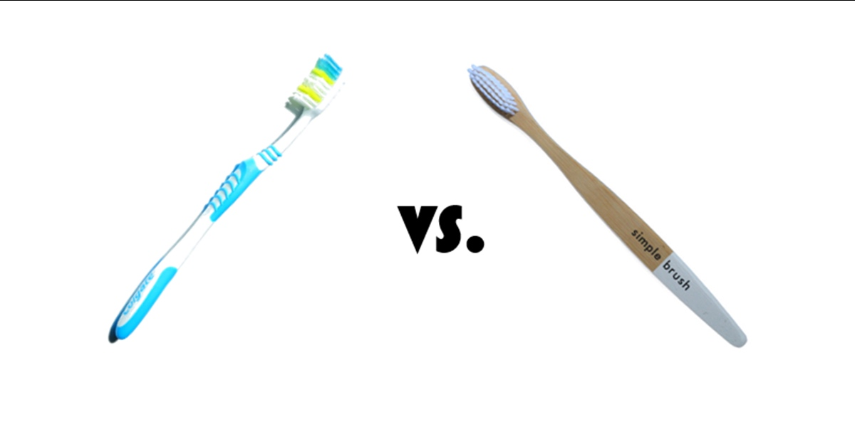 Plastikfrei im Bad: Plastikzahnbürste vs. Bambuszahnbürste