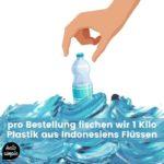 Wellenretter:in Kampagne. Clean rivers. Save Oceans.